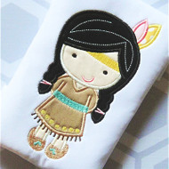 Indian Girl 2 Applique