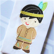 Indian Boy 2 Applique
