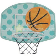Basketball Hoop Applique