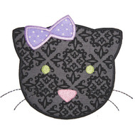 Cute Girl Black Cat