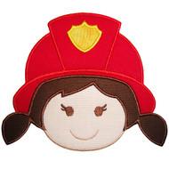 Fire Girl Applique