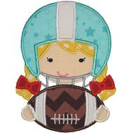 Football Helmet Girl