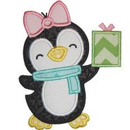 Girl Christmas Penguin