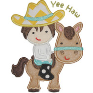 Horse Cowboy Applique