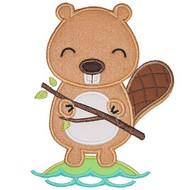 Lil Beaver Applique Set