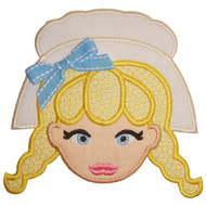 Pilgrim Girl Applique