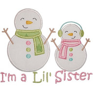Sibling Snowman Applique