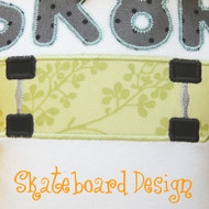 Skateboard 2 Applique