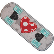 Skateboard Love Applique