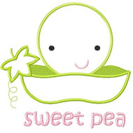 Sweet Pea Applique