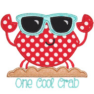 Cool Crab Applique