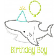 Birthday Shark Applique