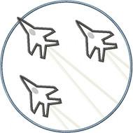 Jet Fighter Patch Applique