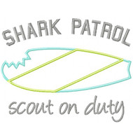 Shark Patrol Applique