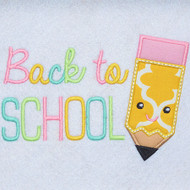Back to School Pencil Applique