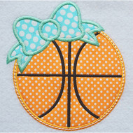 Bow Basketball Applique
