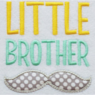 Little Brother Mustache Applique