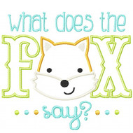 Fox Say Applique
