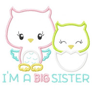 Sibling Owls Applique