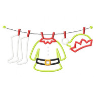 Elf Laundry Applique