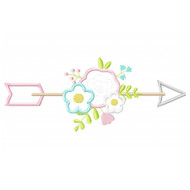 Floral Arrow Applique