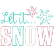 Let it Snow 3 Applique