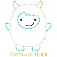Mommy's Little Yeti Applique