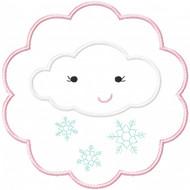 Snow Cloud Patch Applique