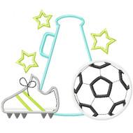 Soccer Cheer Applique