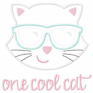 One Cool Cat Applique