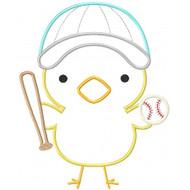 Baseball Chick Applique