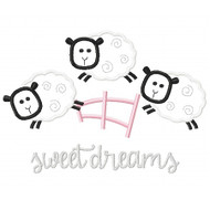 Counting Sheep Applique