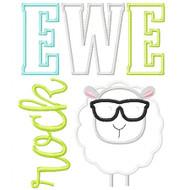 Ewe Rock Applique