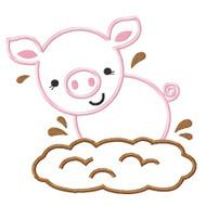 Mud Piggy Applique