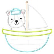 Sailboat Puppy Applique