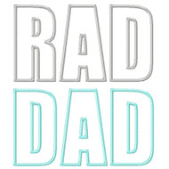 Rad Dad Applique