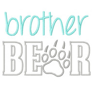 Brother Bear Applique