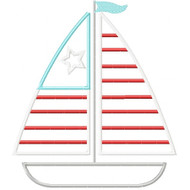 Patriotic Sailboat Applique
