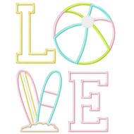 Beach Love Applique