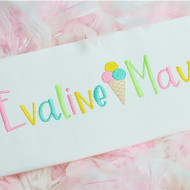 Evaline Embroidery Font