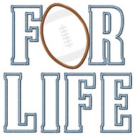 Football for Life Applique