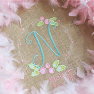 Holly Wreath Monogram