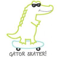 Skateboard Gator Applique