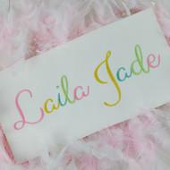 Laila Embroidery Font