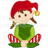Girl Santas Worker Applique