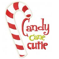 Candy Cane Cutie Applique