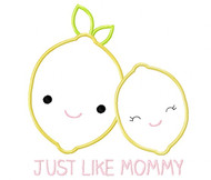 Like Mommy Lemons Satin and Zig Zag Applique