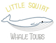 Whale Tours Zig Zag and Vintage Stitch Applique