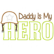 Army Dad Hero Satin and Zigzag