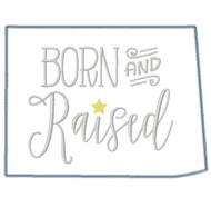 Colorado Born and Raised Vintage and Blanket Stitch Applique